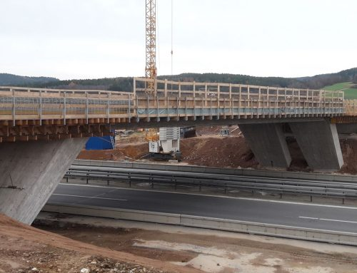 wooden formwork for bridge building, Nabburg – Germany