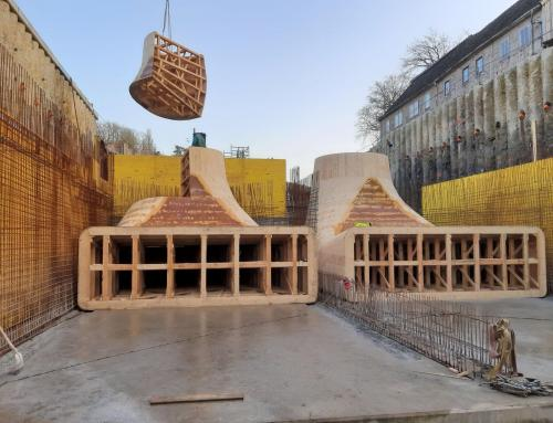 hydro power station Bad Kösen, elbow-formwork, cone-formwork and formwork for spiral chamber – Germany